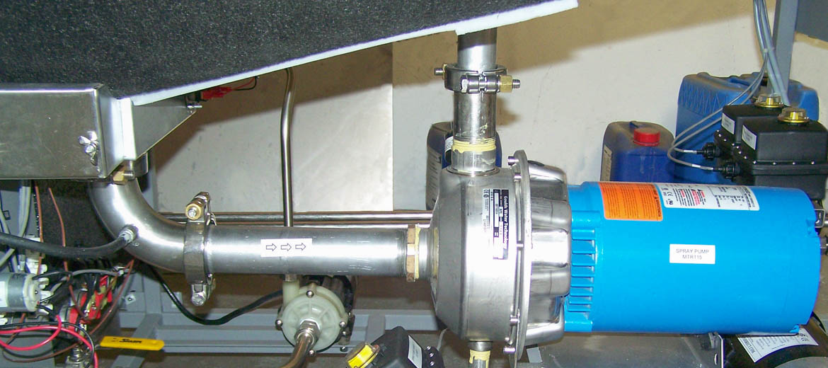 Spray Pump and Plumbing